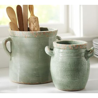 Cucina rustic kitchen accessories crock blue