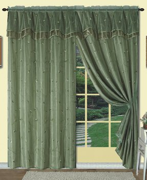 Curtains with valances attached 8