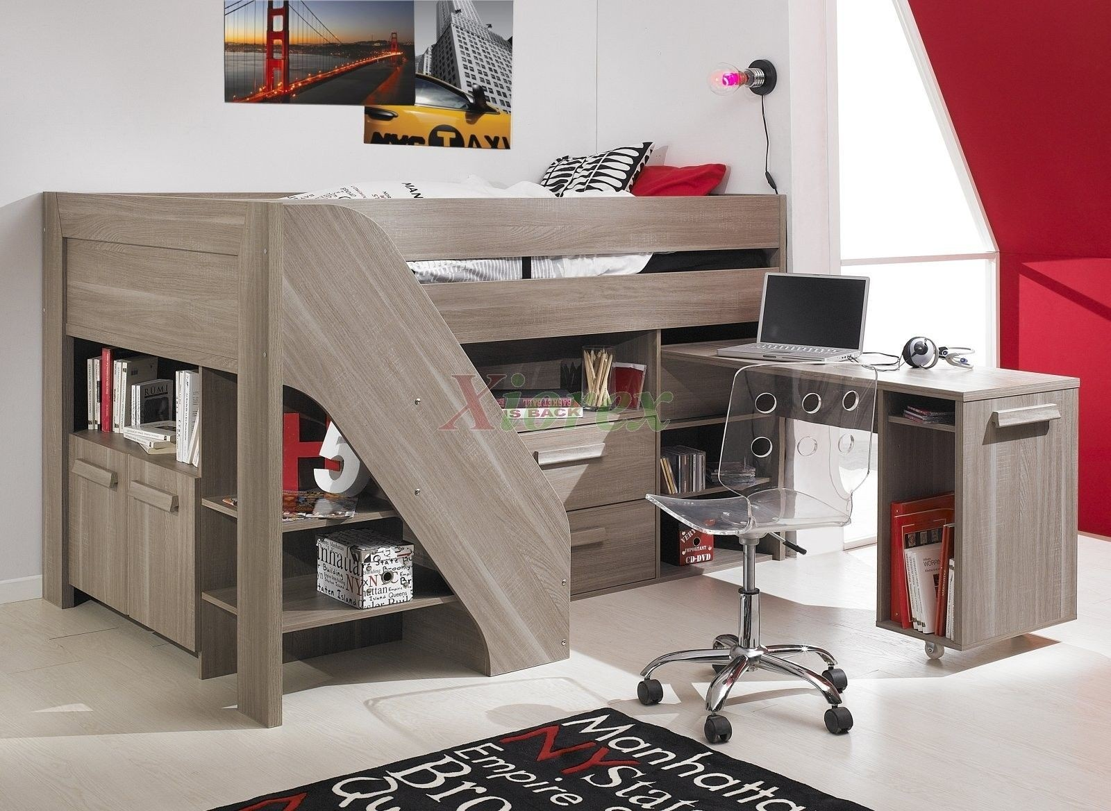 Incredible Double Bunk Bed With Desk Ideas On Foter Download Free Architecture Designs Scobabritishbridgeorg