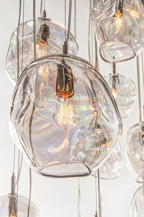 Glass kitchen pendant lights 1