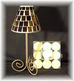 Glass tealight lamp 1