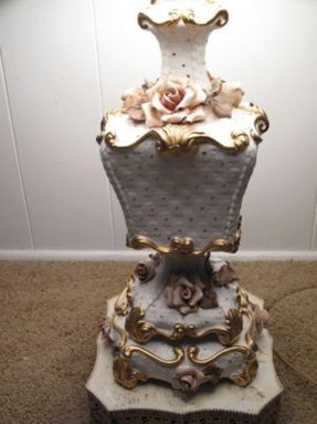 Gold ornate table lamp 26