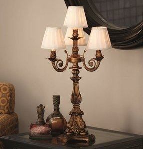 Gold ornate table lamp 37