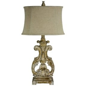Gold ornate table lamp