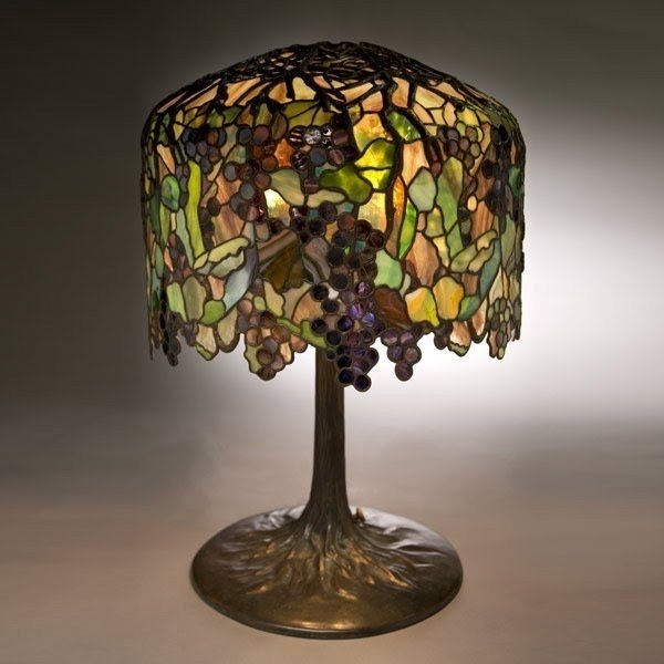 Grape tiffany table lamp 9