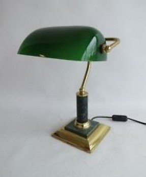 Green glass shade bankers lamp foter green glass shade bankers lamp 2 aloadofball Images