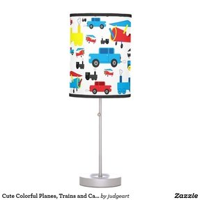 Kids airplane table lamp 6