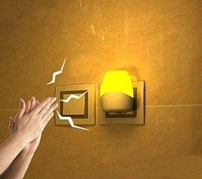 Plug in lamp photocell foter maxhood plug in sound and photocell sensor led light led sensor night light lamp aloadofball Image collections