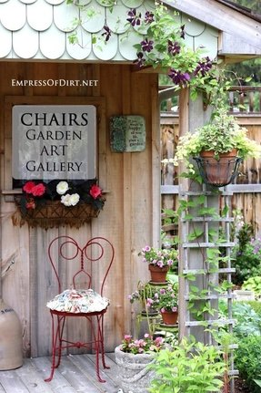 Metal garden chairs 11