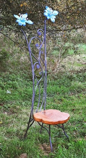 Metal garden chairs foter for Metallfiguren rost