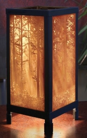 Porcelain garden lithophane lamps 2