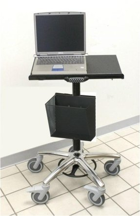 Rolling laptop stand 1
