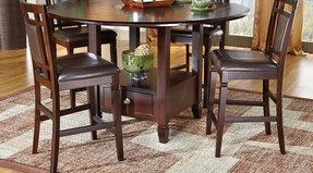 Round counter height dining table set
