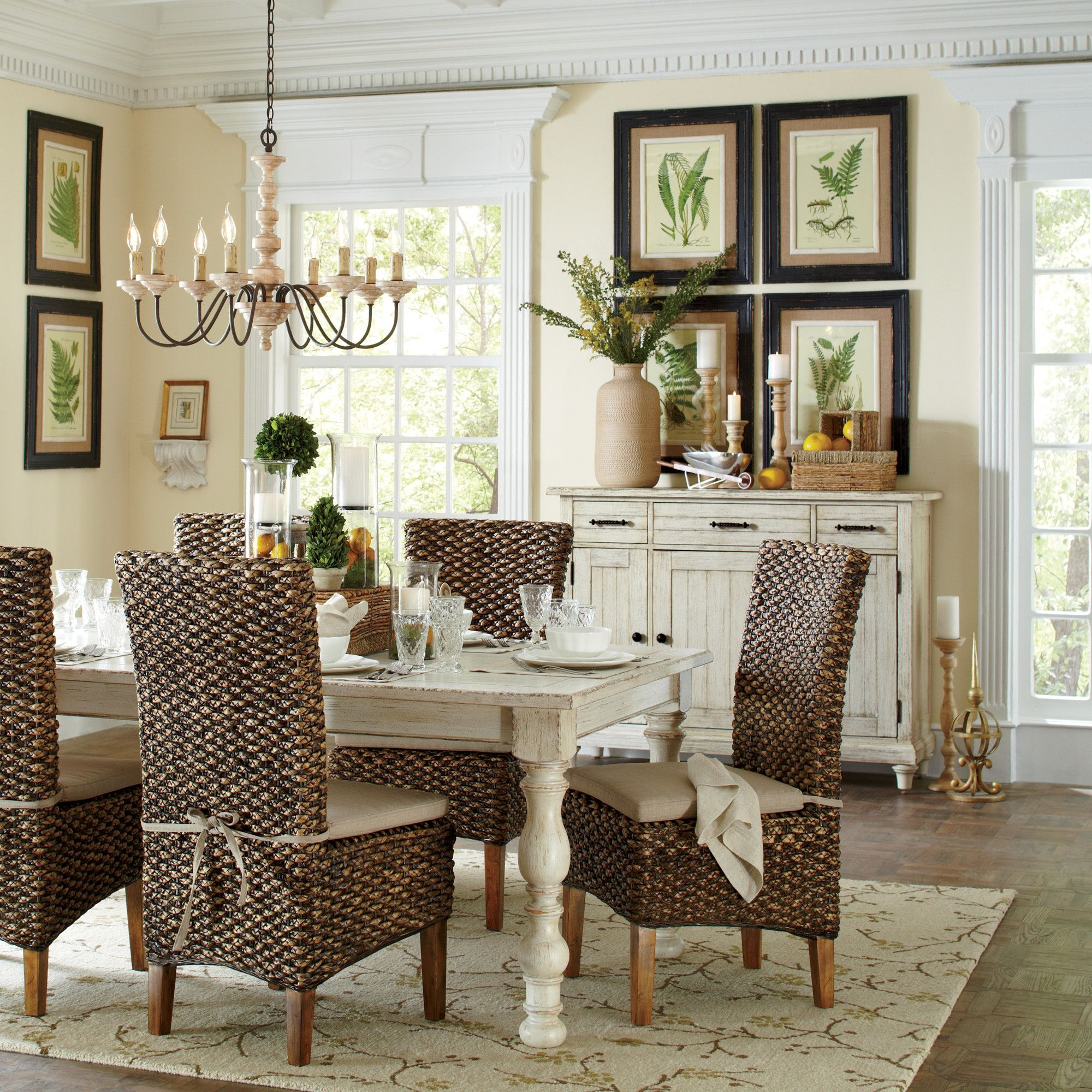 Charmant Seagrass Dining Chairs