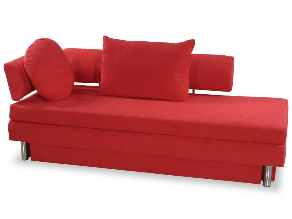 Nice Sleeper Sofa Small Spaces With Fancy Red Theme
