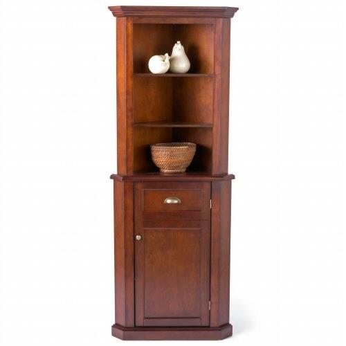 Small Oak Corner Cabinet
