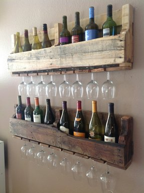 Small wall mounted wine rack