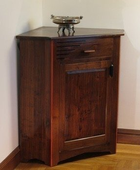Triangular corner cabinet