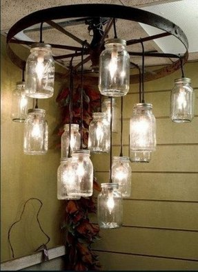 Wagon Wheel Lamp Foter
