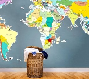 Kids bedroom wall stickers foter wall sticker ebay this printed world map gumiabroncs Choice Image