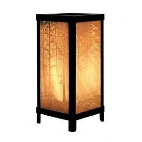 Woodland Sunbeams Luminaire Lithophane Porcelain Accent Table Lamp
