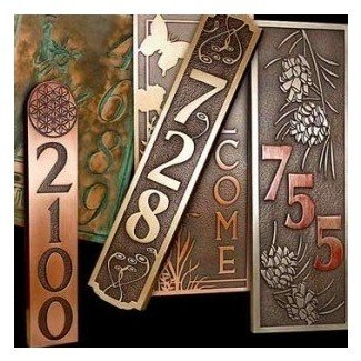 Atlas adds vertical plaques house number plaques and address plaques