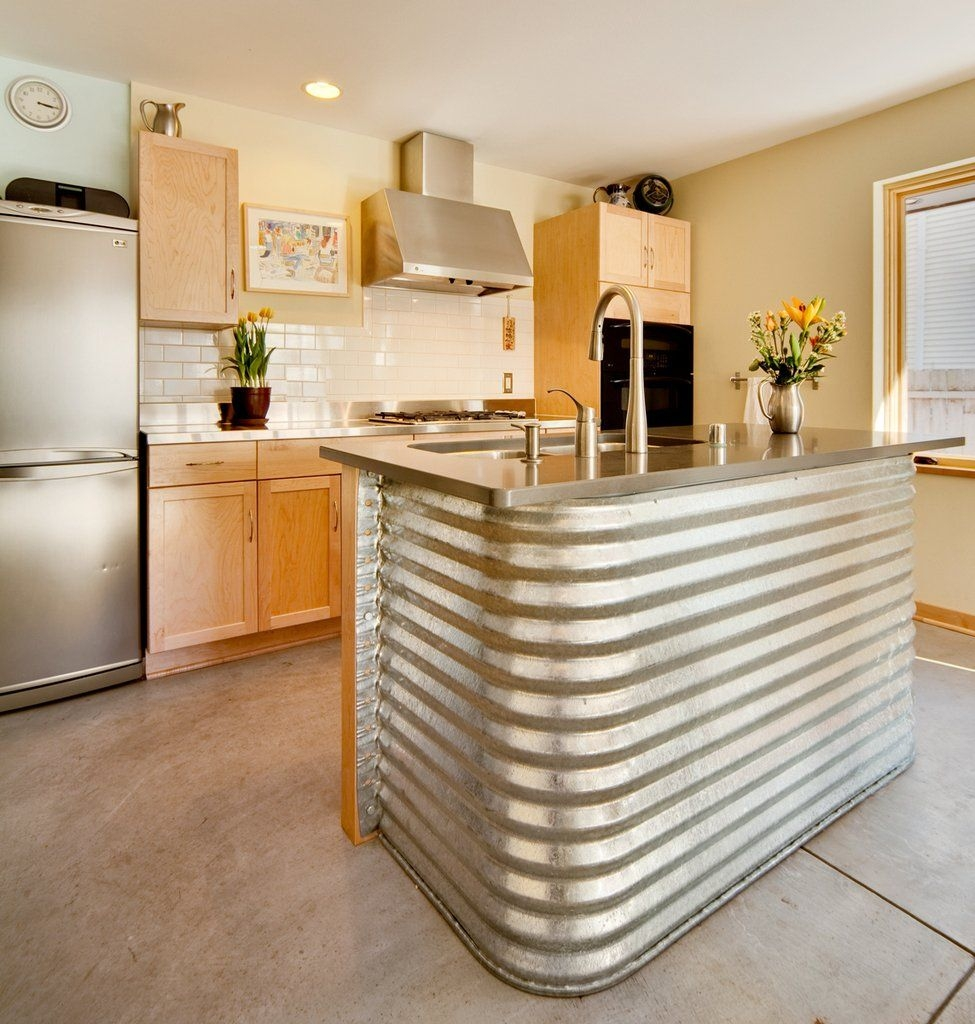 Gentil Corrugated Metal Kitchen