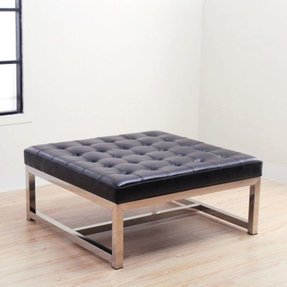 Gallery Of Tufted Leather Ottoman Coffee Table 2