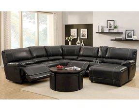 Leather sectional reclining 17