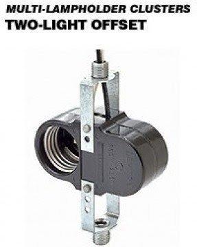 2 Leg Steel Bracket Assembly Pinned to Socket Leviton 4155-51 Incandescent Lampholder Medium Base 660W-250V Candle Bottom Turn Knob Switch