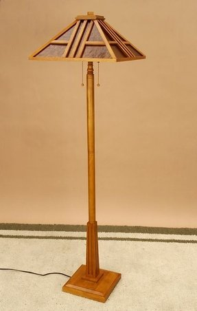 Meridian mission style floor lamp