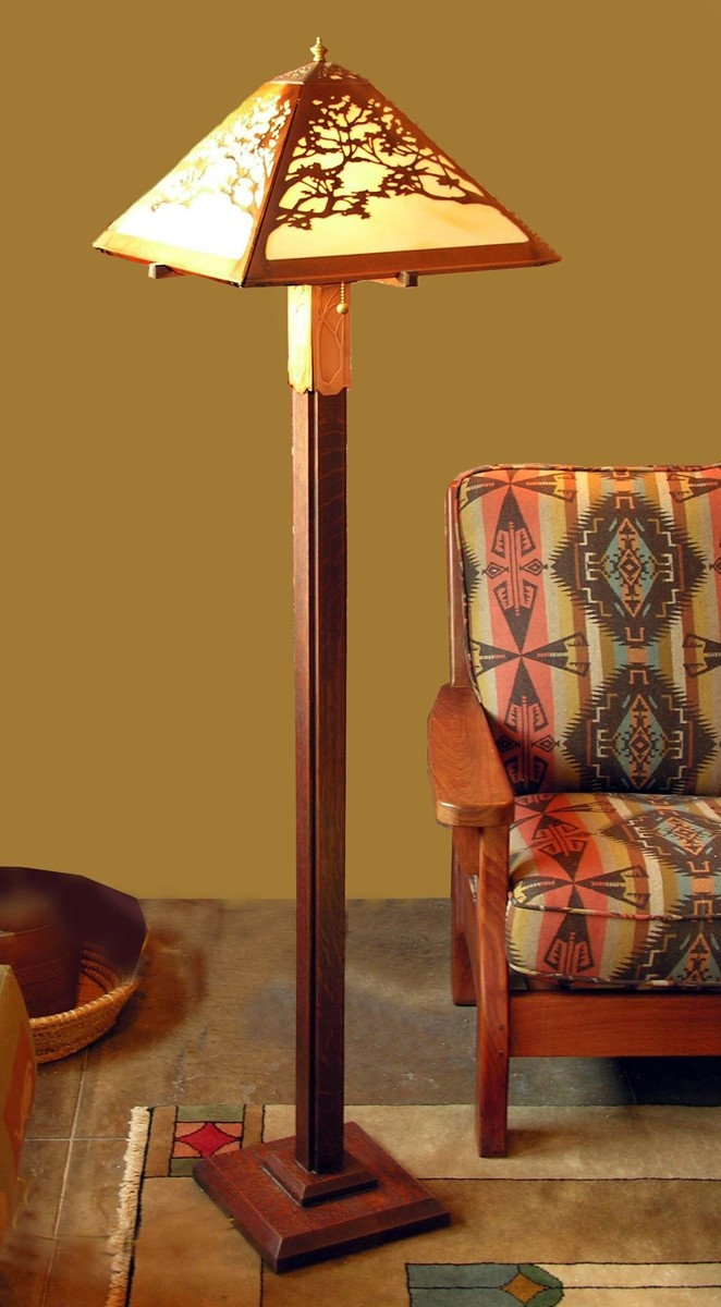 Bon Mission Style Floor Lamp 4