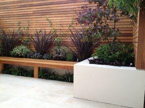 Modern patio bench 20