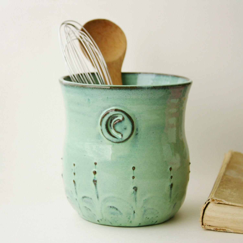 Ceramic Utensil Holder Crock   Ideas On Foter