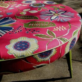 Ottoman coffee table round upcycled in 2