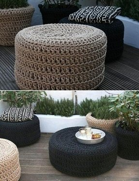 Outdoor ottomans 1