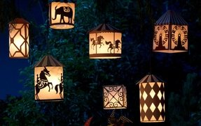Paper lantern table lamp 29