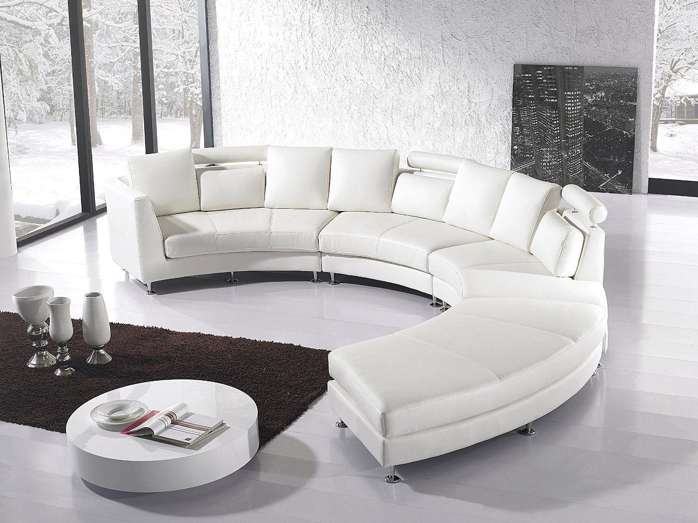 Round Leather Sofa 1