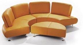 Round Leather Sofa 10