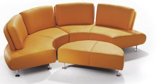 Great Round Leather Sofa 10