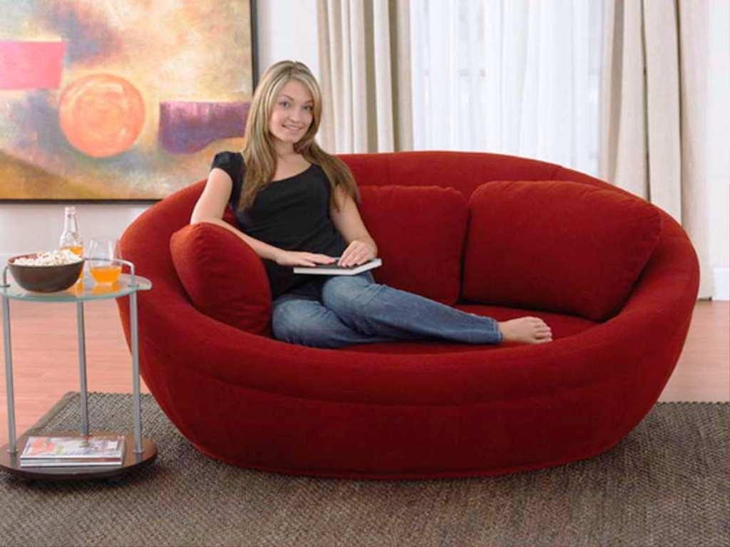 Round Leather Sofa 2