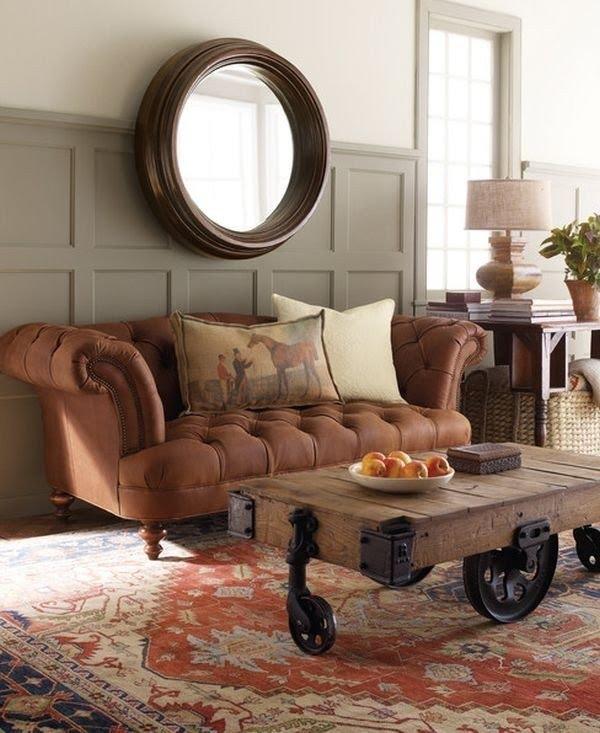 Round Leather Sofa 6