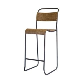 Rustic modern kitchen high backed scholar barstool 144 99 dot