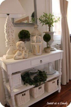 Shabby chic console table white