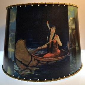 Sm indian maiden lamp shade rustic cabin