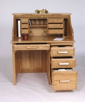 Small roll top computer desk 1