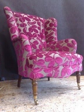 Stunnig pink wing chair