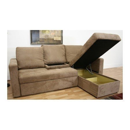Stylish living room updates amul microfiber convertible sectional in tan