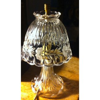 Vintage hand cut lead crystal lamp and