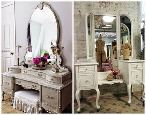 Pleasant Antique White Bedroom Vanity Ideas On Foter Interior Design Ideas Tzicisoteloinfo